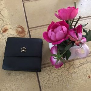 CHANEL Authentic Elegant Black Timeless Wallet